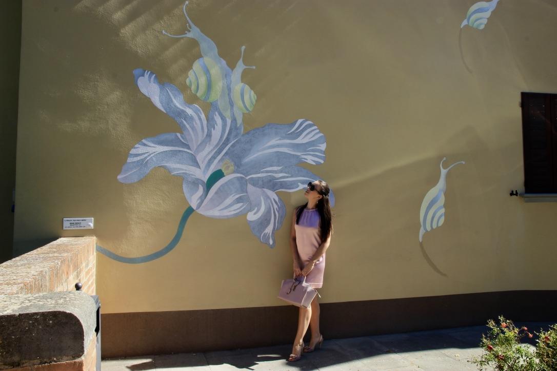 Murales di fiori Dozza