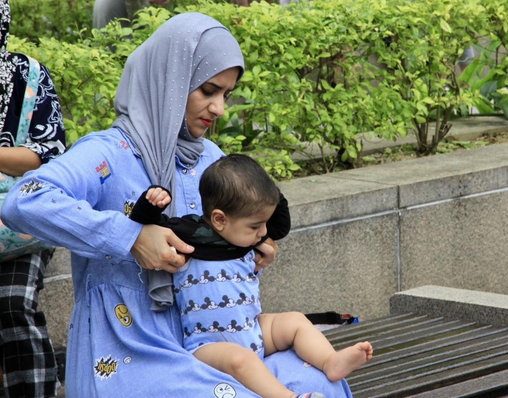 Mamma e bambino malesi, Kuala Lumpur