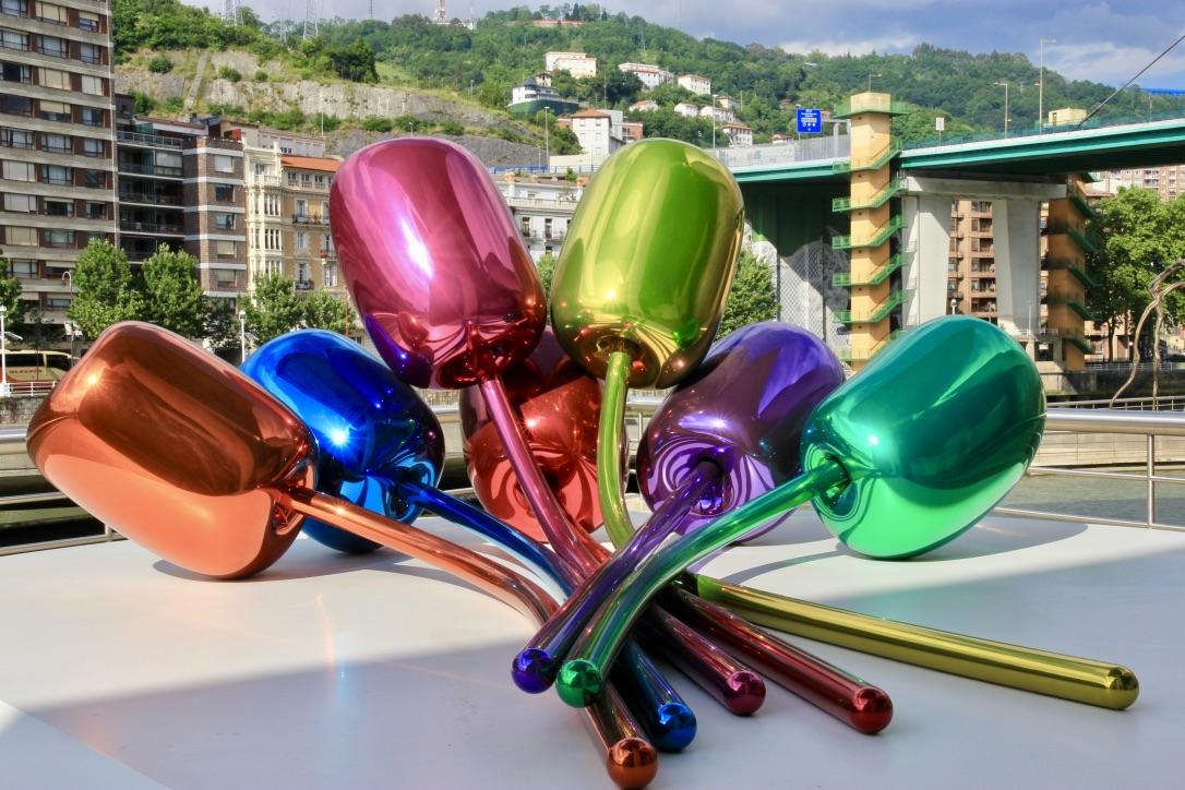 Bilbao, fiori del museo