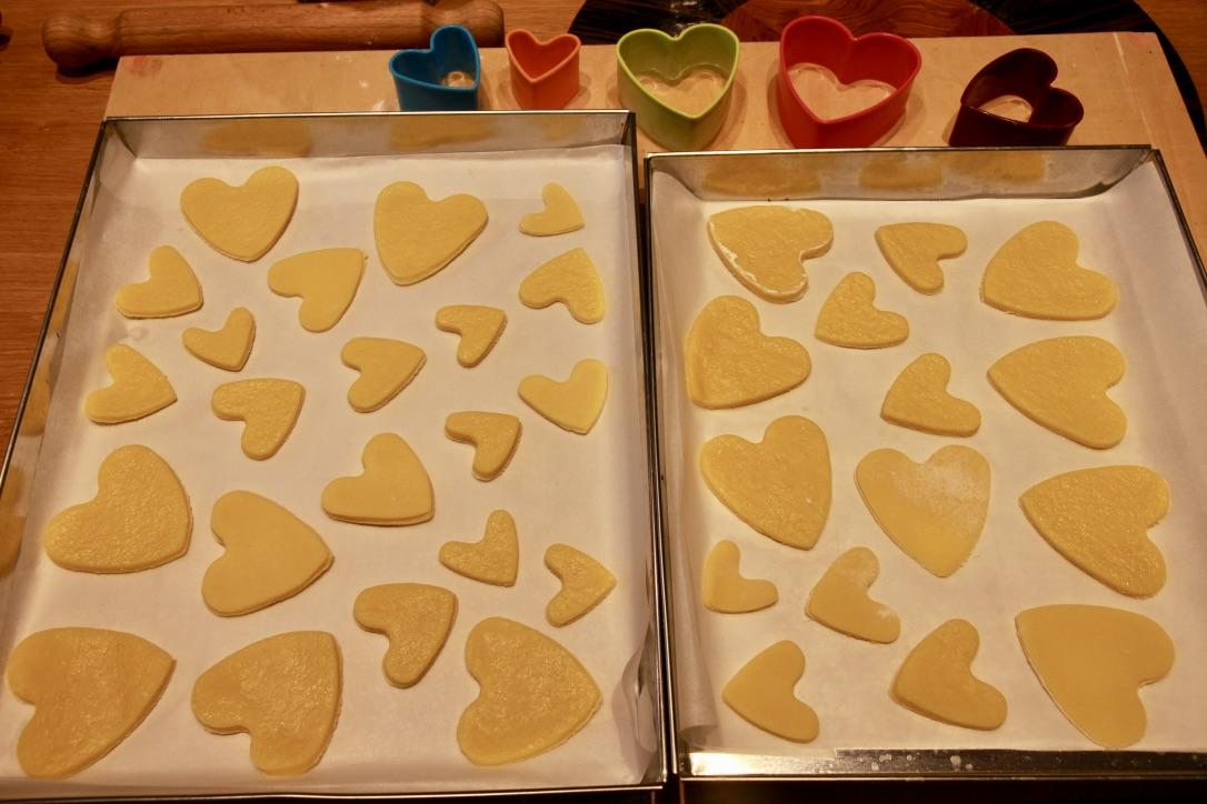 semplici biscotti per San Valentino