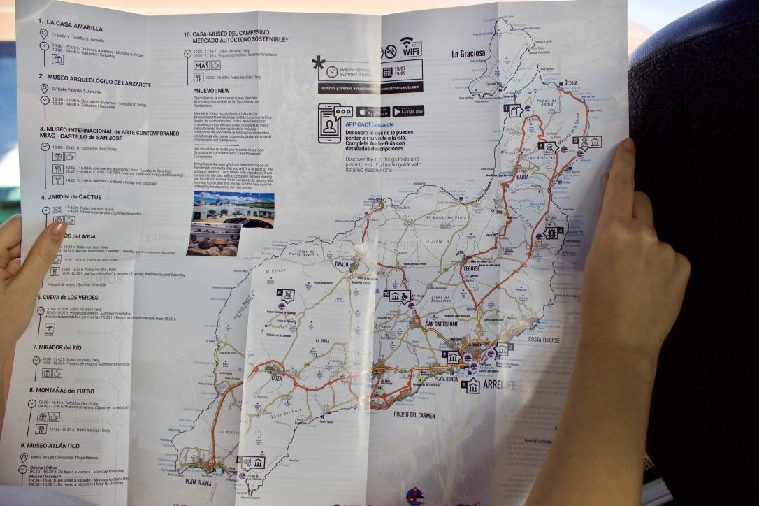 Mappa Lanzarote - cosa fare