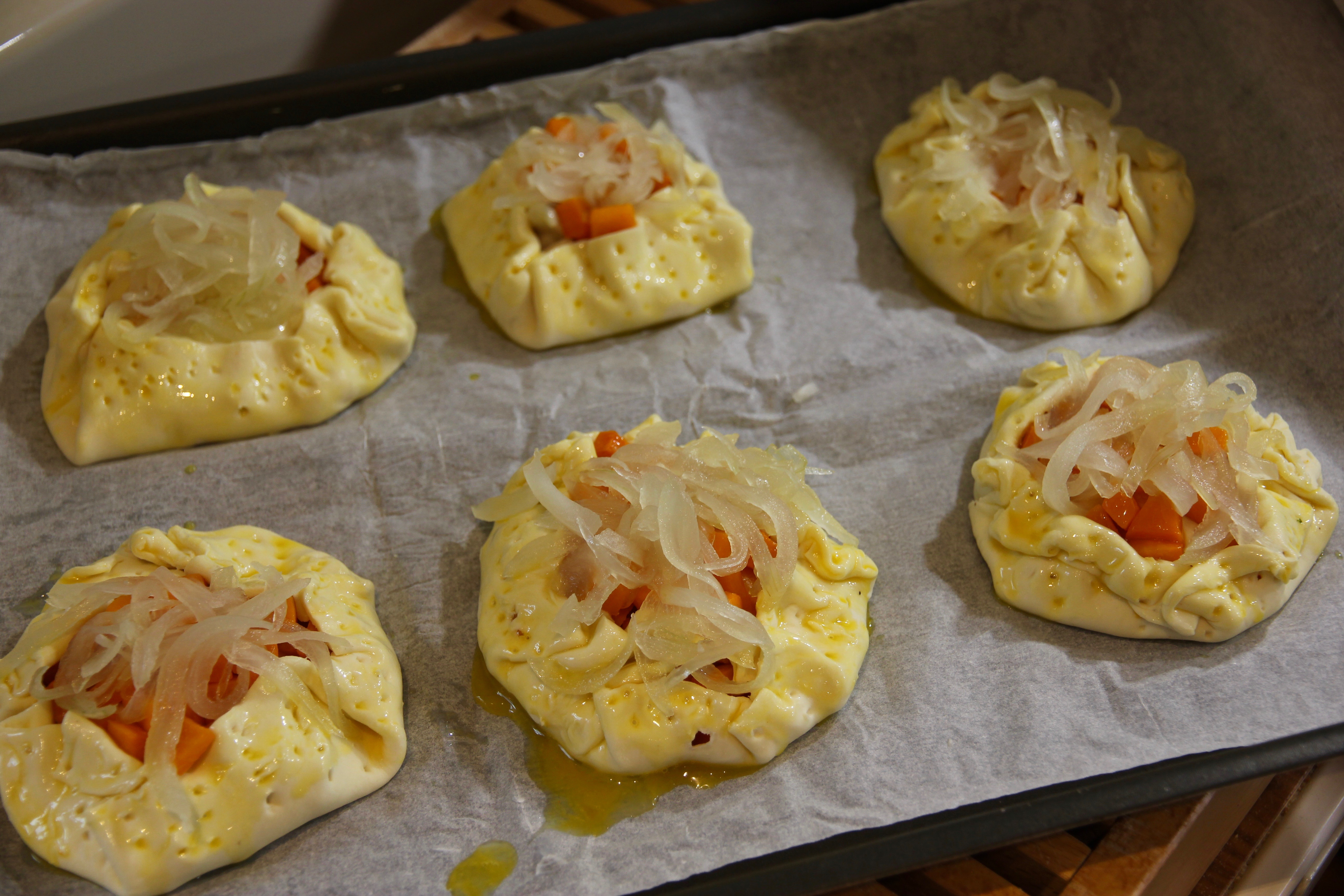 mini quiche di zucca e gorgonzola
