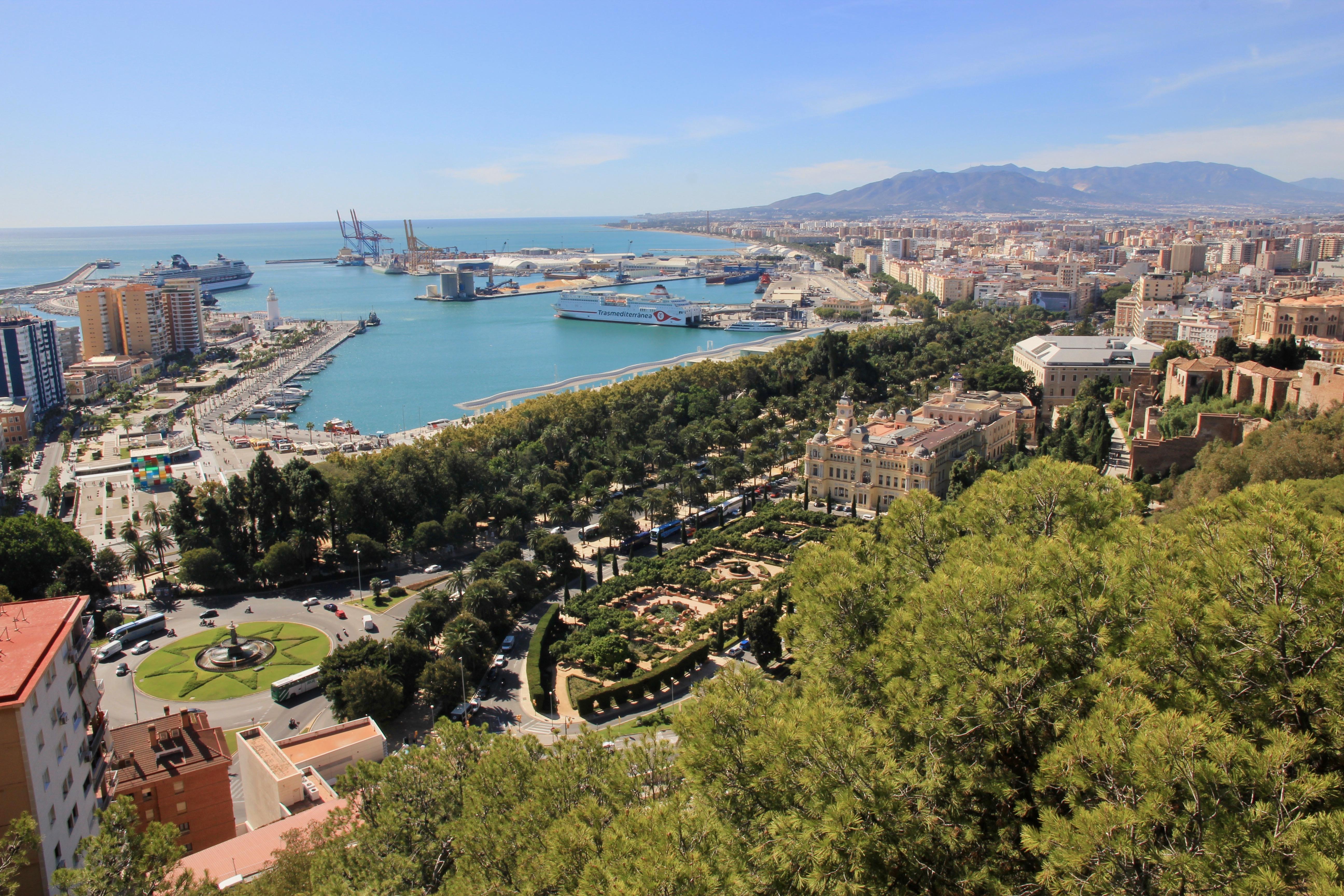 Málaga dall'alto