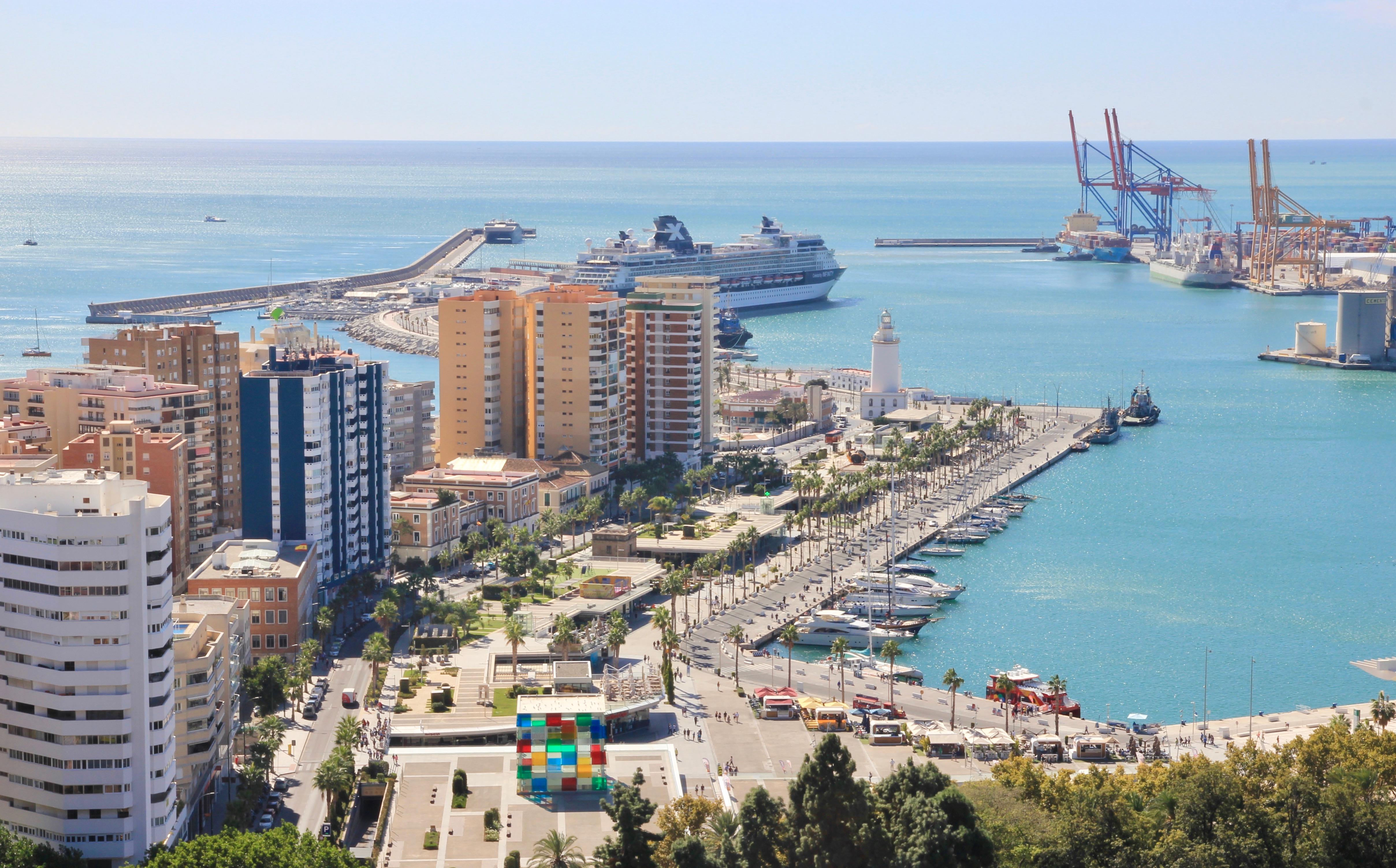 Vista su Málaga