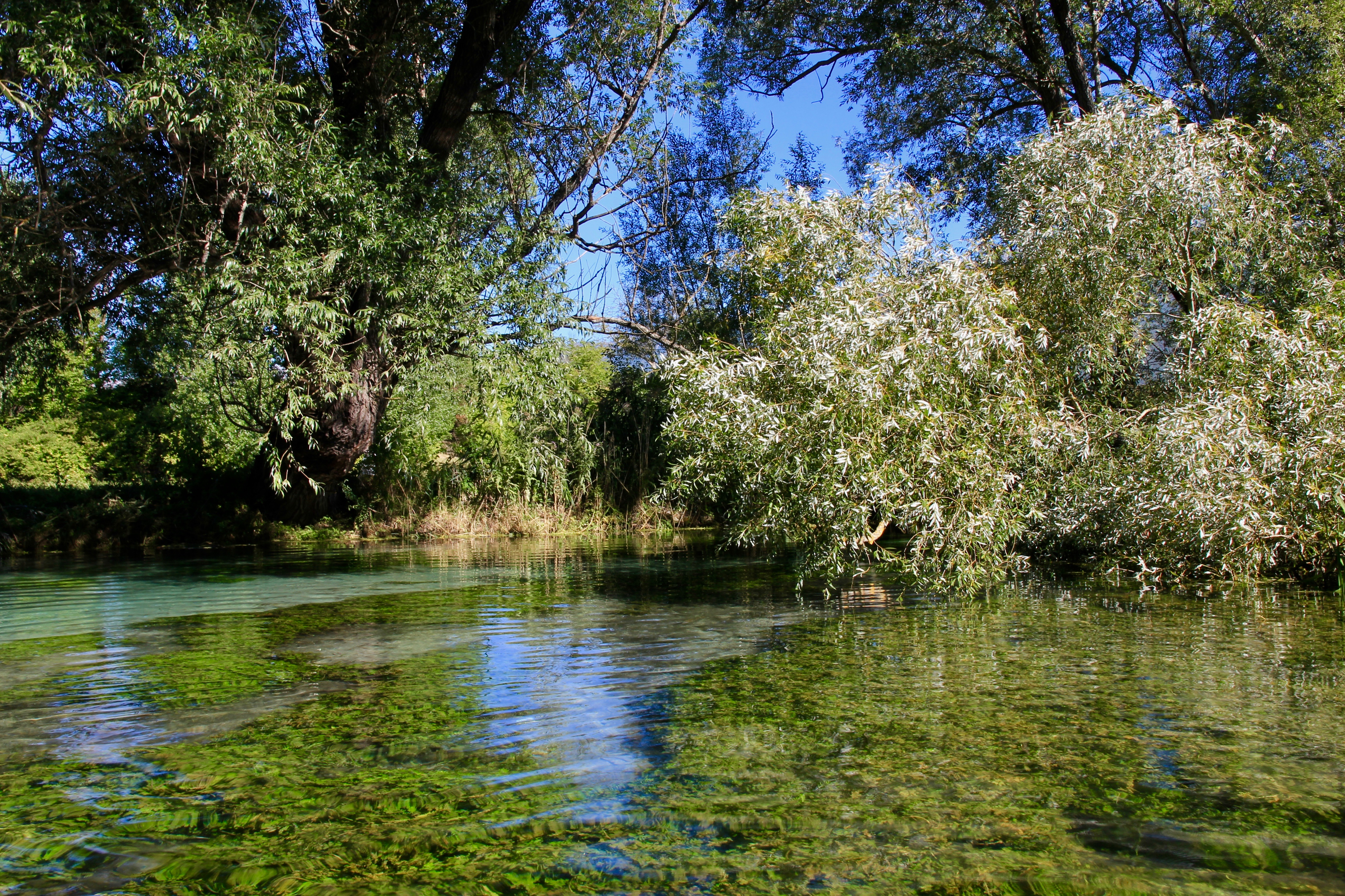 In canoa sul fiume Tirino