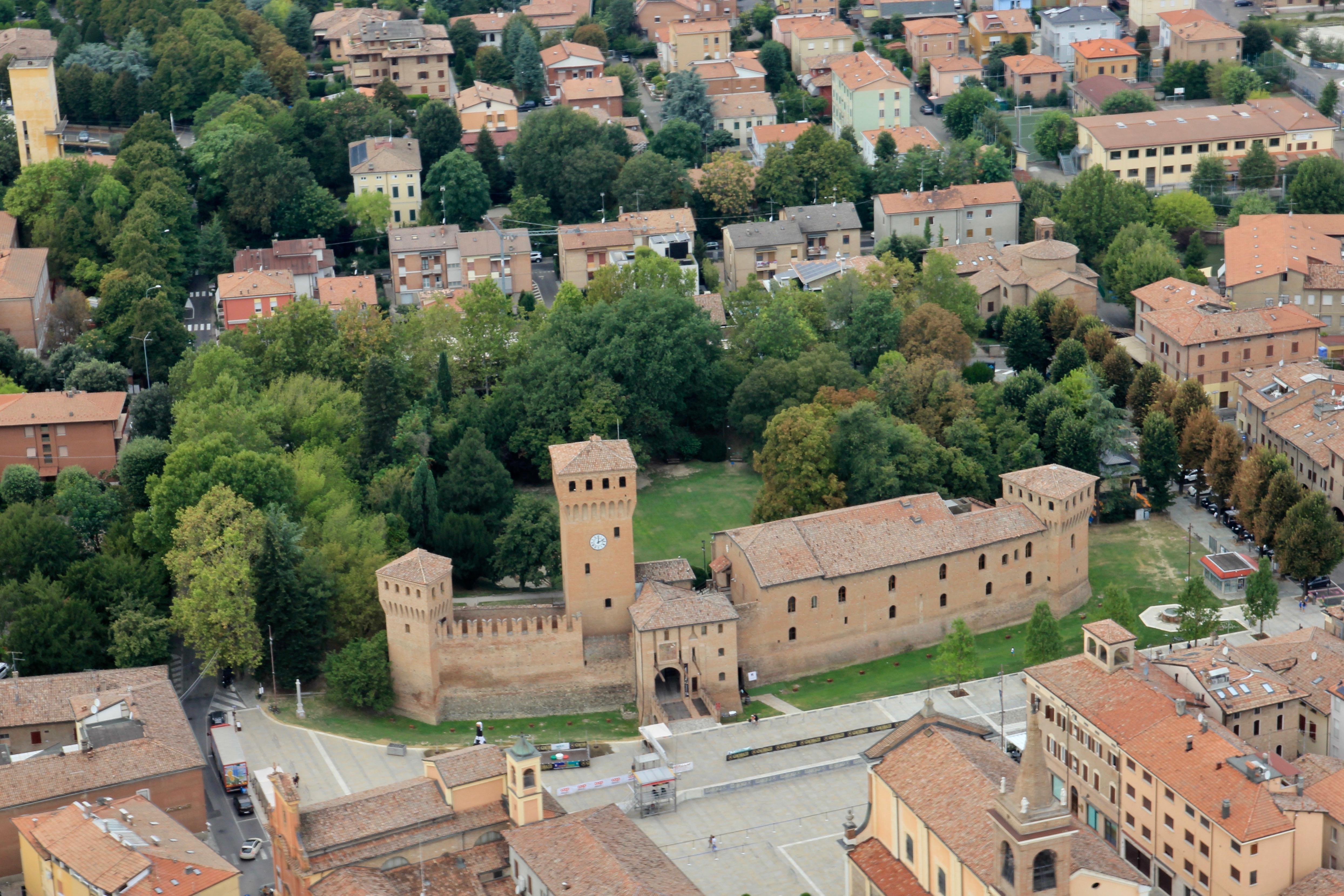 Castello di Formigine dall'alto