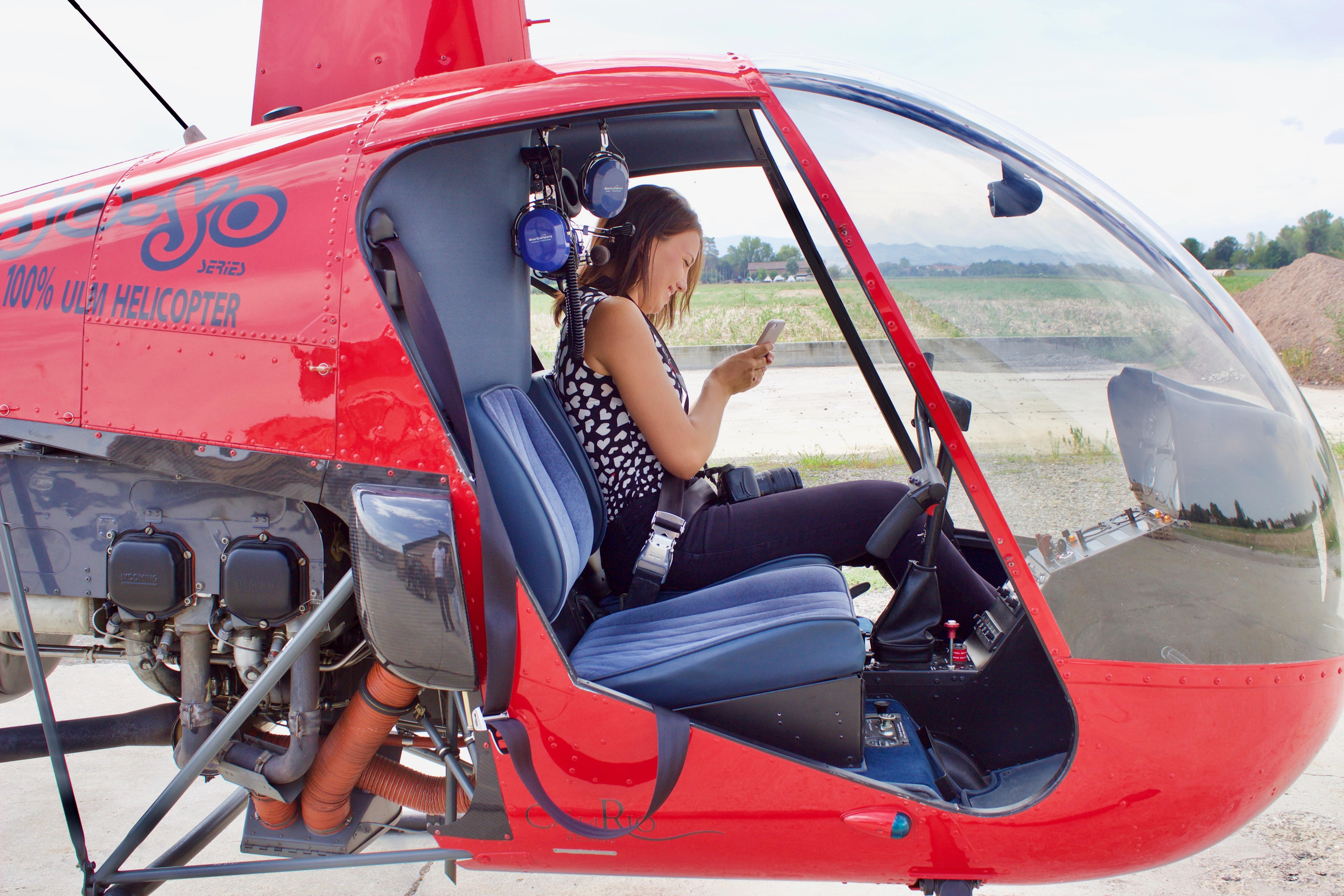 Ca' del Rio - elicottero