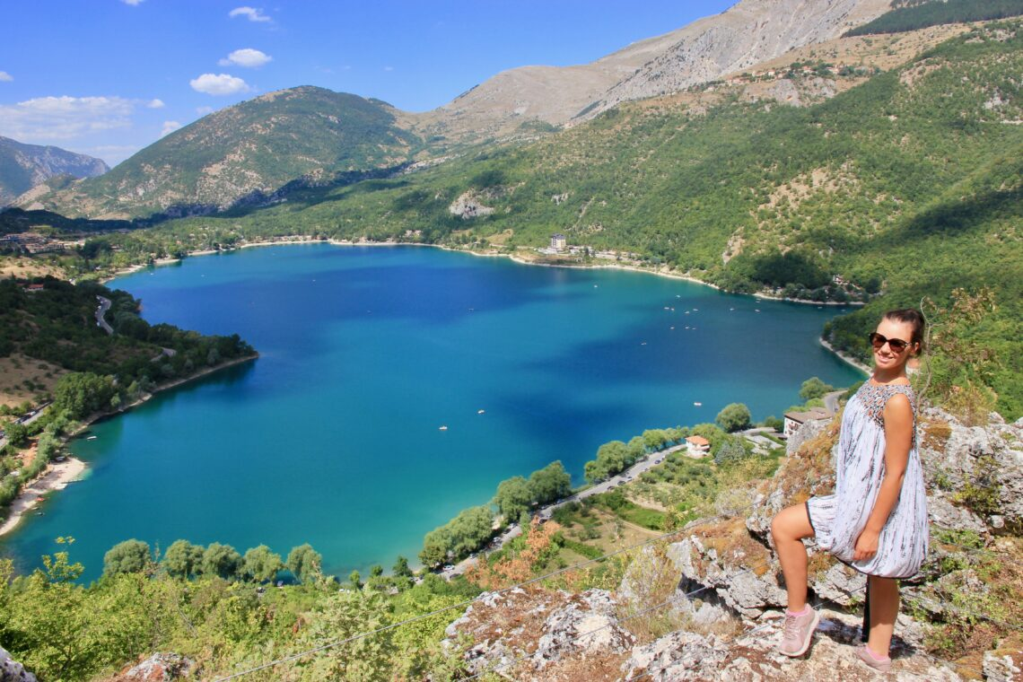 lago a forma di cuore in Abruzzo