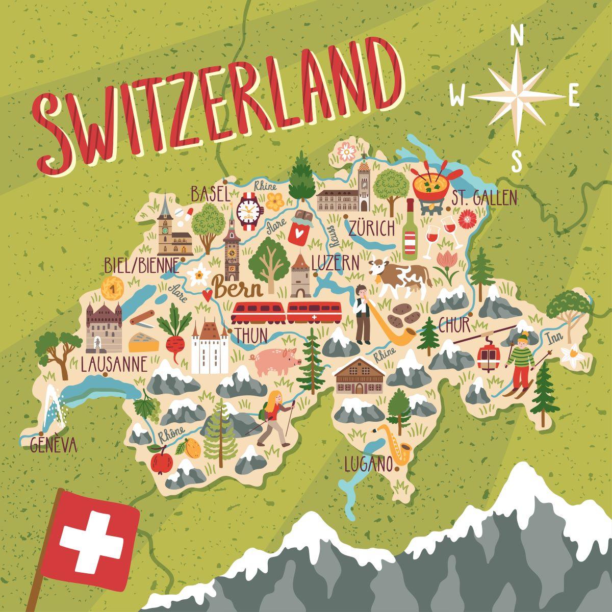 Svizzera - mappa