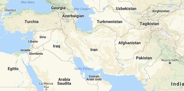Confini dell'Iran